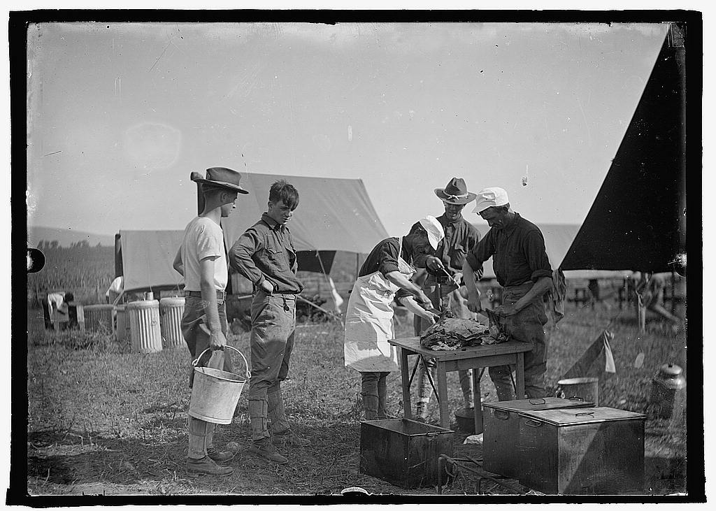 16 x 20 Reprinted Old Photo ofU.S. Army camp kitchen 1925 National Photo Co  90a
