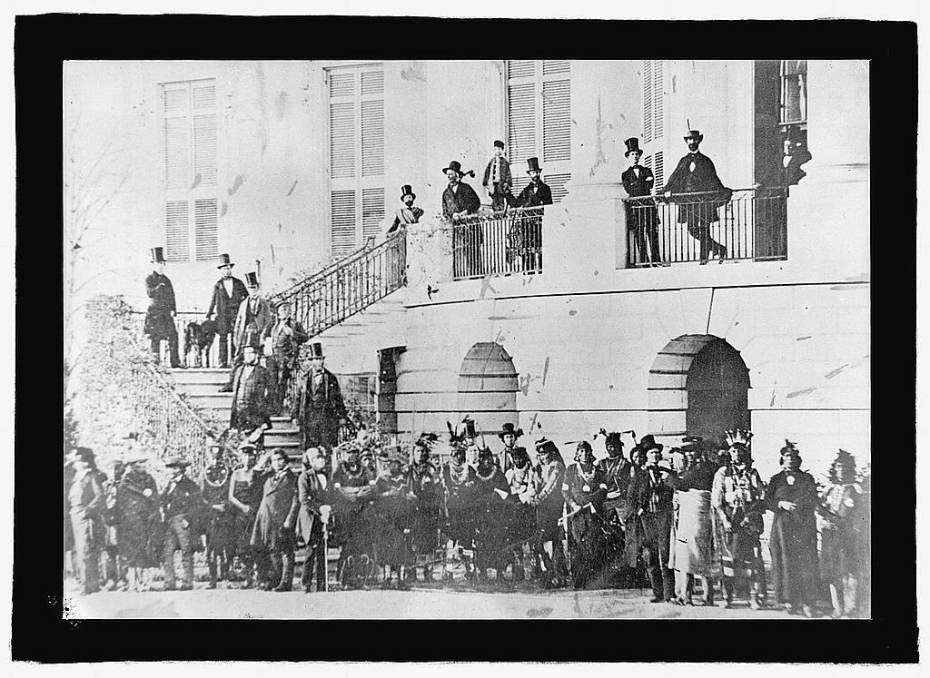 16 x 20 Gallery Wrapped Frame Art Canvas Print of : Indians at White House during the Civil War, Washington, D.C. 1925 National Photo Co  00a