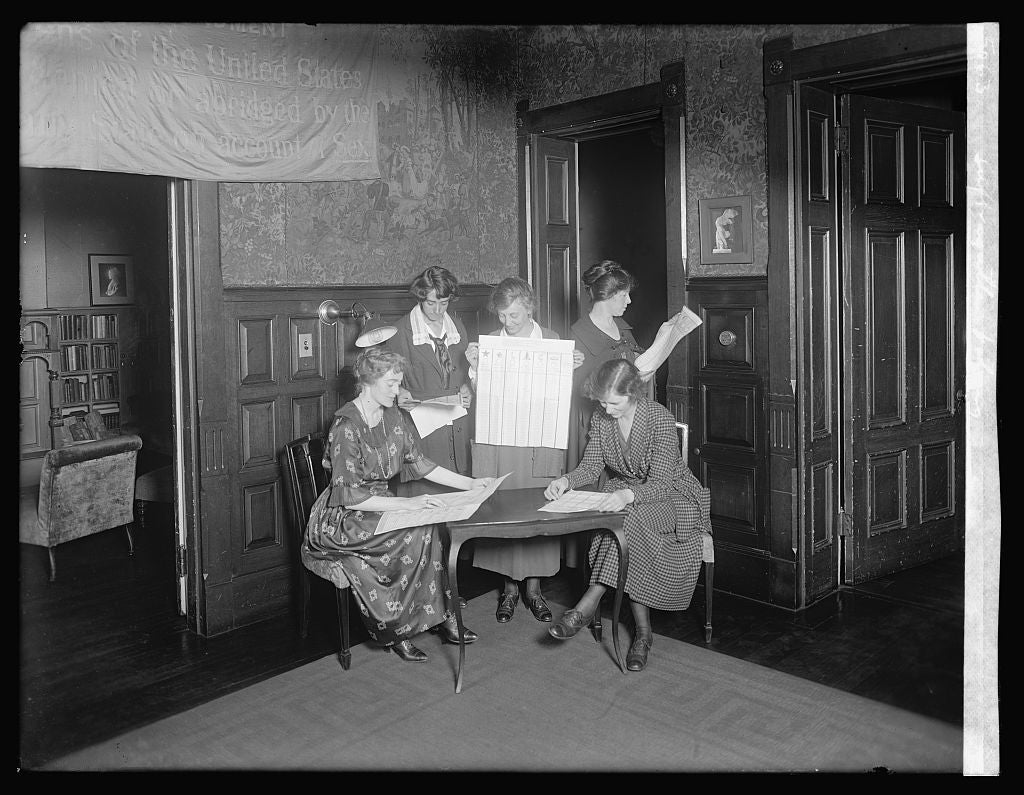 8 x 10 Reprinted Old Photo of Suffragettes voting 1921 National Photo Co  63a