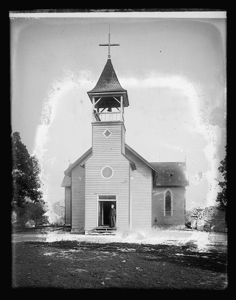 8 x 10 Reprinted Old Photo of Mechanicsville, [Maryland], Catholic Church, exterior 1921 National Photo Co  67a