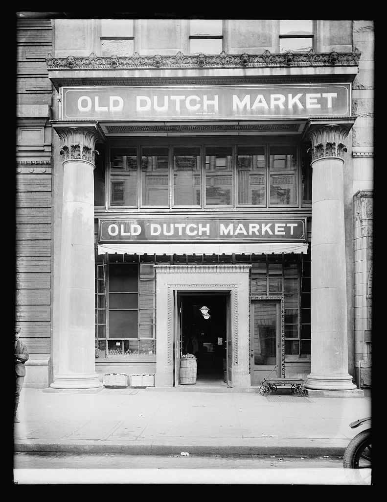 8 x 10 Reprinted Old Photo of Old Dutch Market, exterior, [Washington, D.C.] 1921 National Photo Co  88a