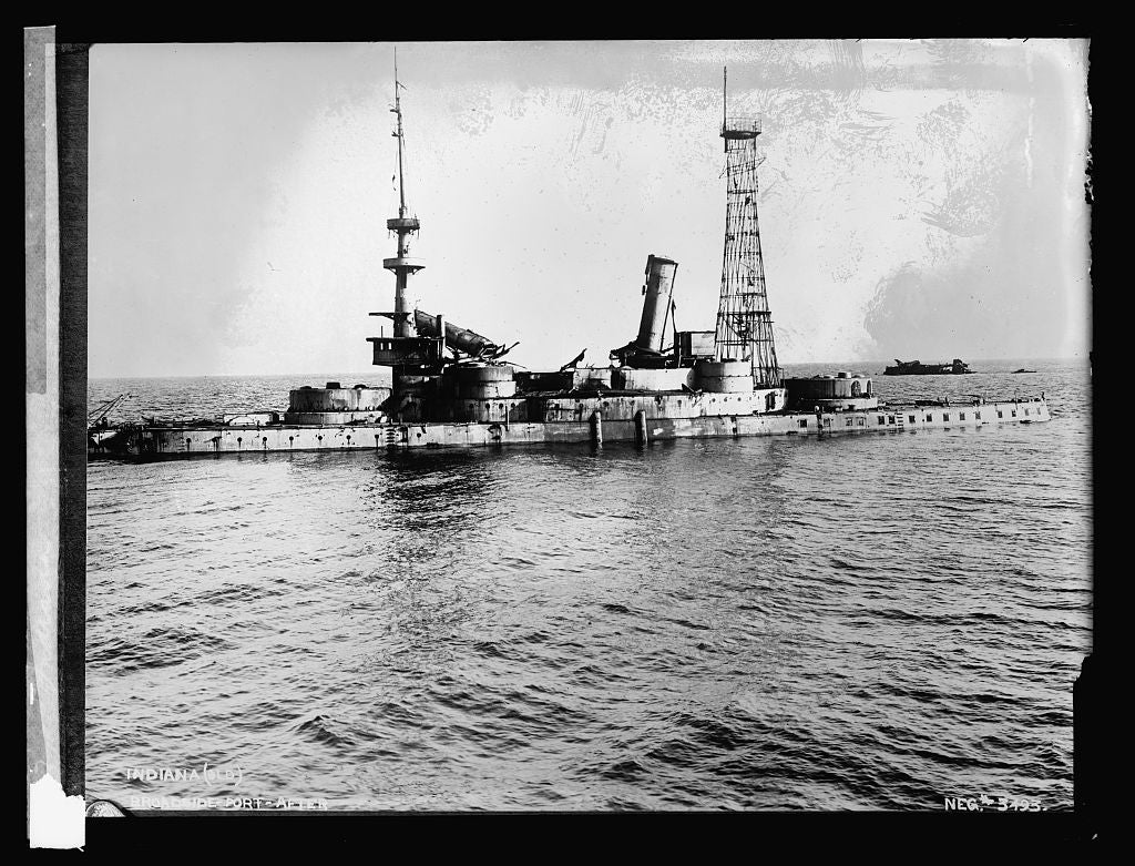 16 x 20 Reprinted Old Photo ofIndiana [battleship 1921 National Photo Co  90a