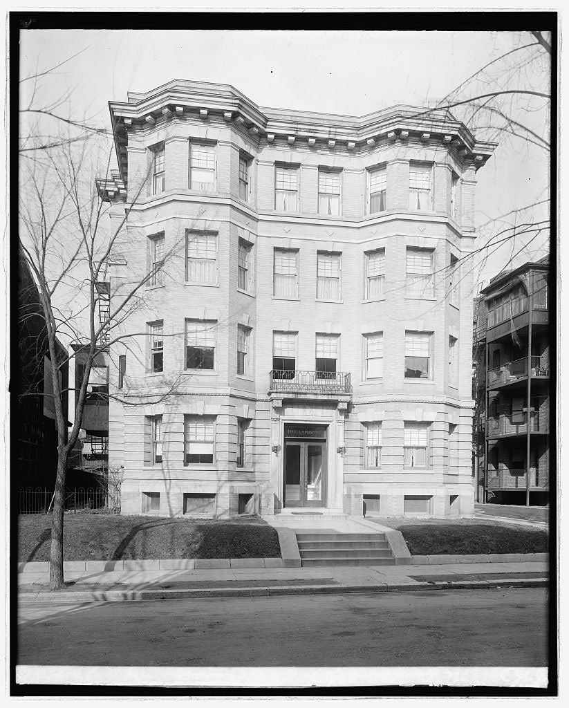 16 x 20 Reprinted Old Photo ofThe Lambert Apt., 18 & Lanier, [Washington, D.C. 1921 National Photo Co  10a