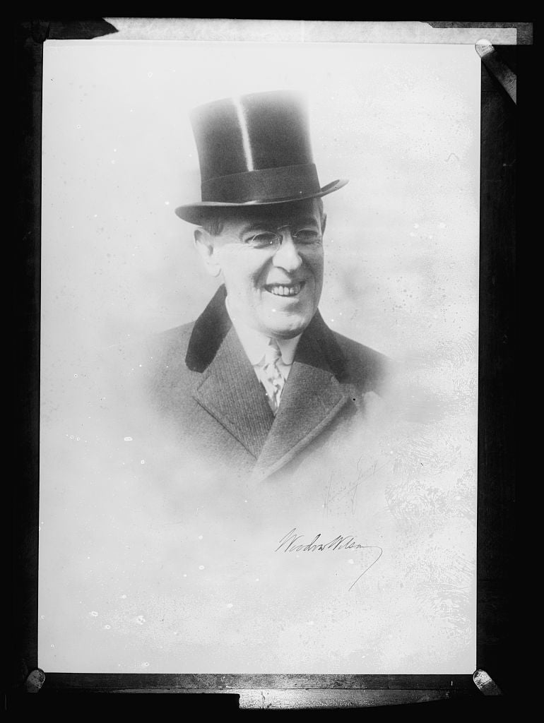 16 x 20 Reprinted Old Photo ofWoodrow Wilson 1921 National Photo Co  41a