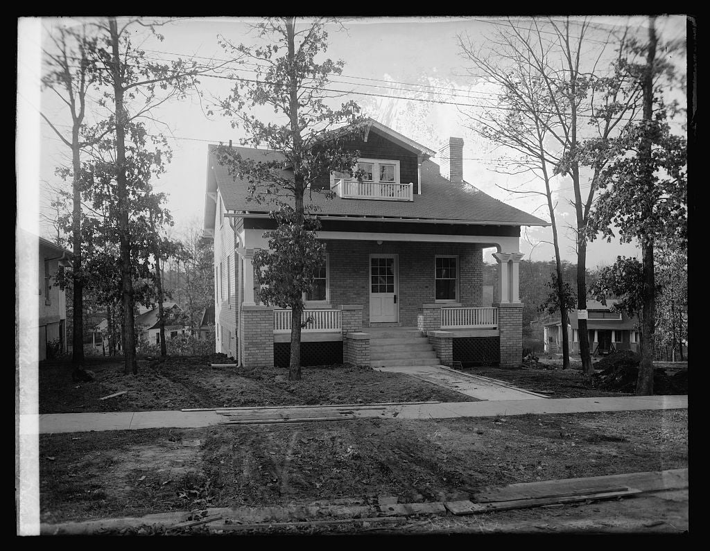 16 x 20 Reprinted Old Photo ofHerald, Main & Spruce St., Takoma Pk., [Maryland 1921 National Photo Co  45a