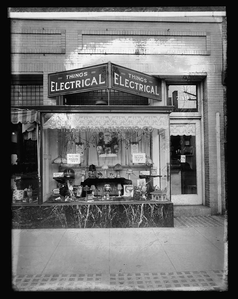 16 x 20 Reprinted Old Photo ofH.I. Scharr Electric Co., front 1921 National Photo Co  48a