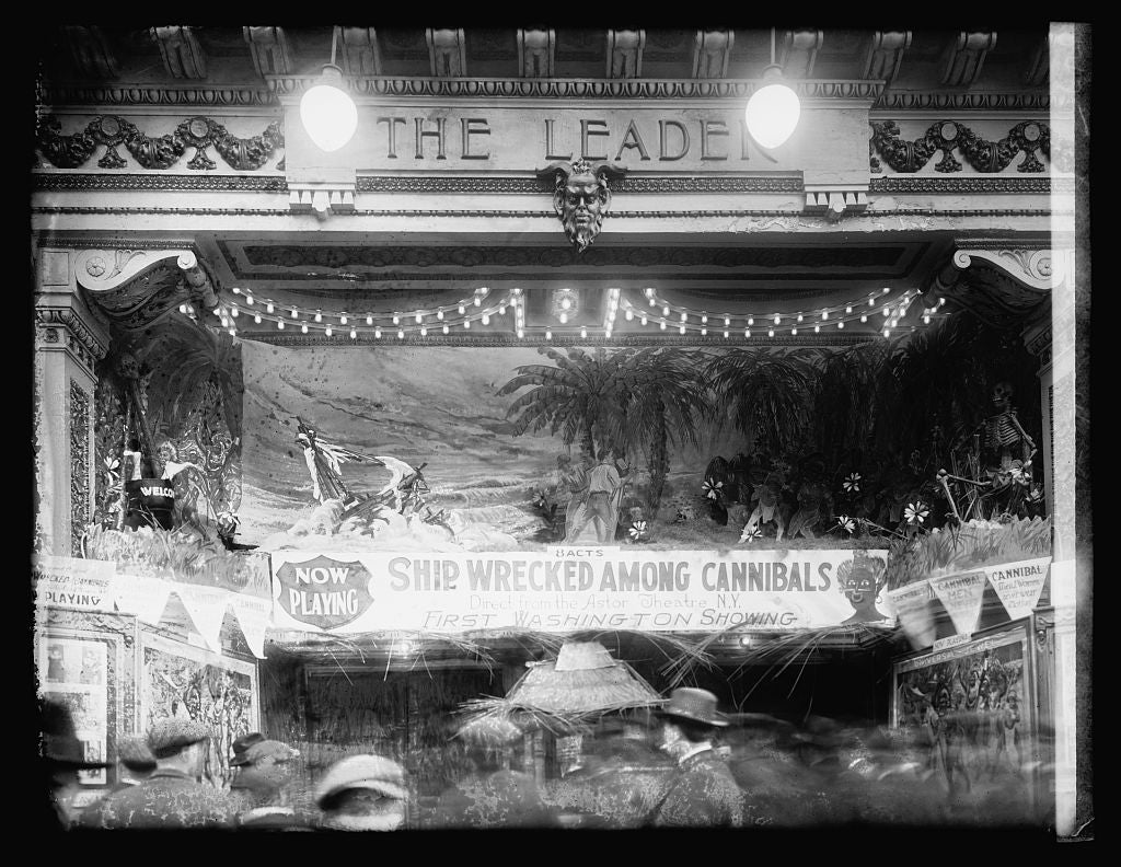 16 x 20 Reprinted Old Photo ofLust's Leader Theater, [Washington, D.C. 1921 National Photo Co  85a