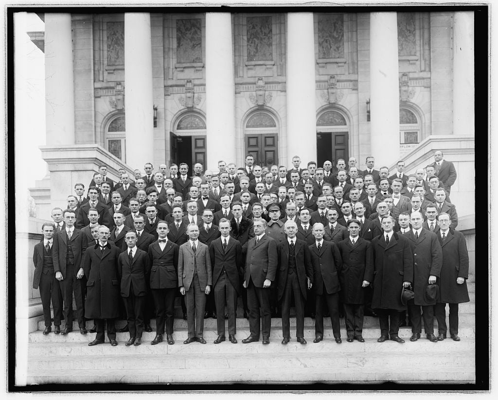 16 x 20 Reprinted Old Photo ofMr B[...] church group 1921 National Photo Co  90a