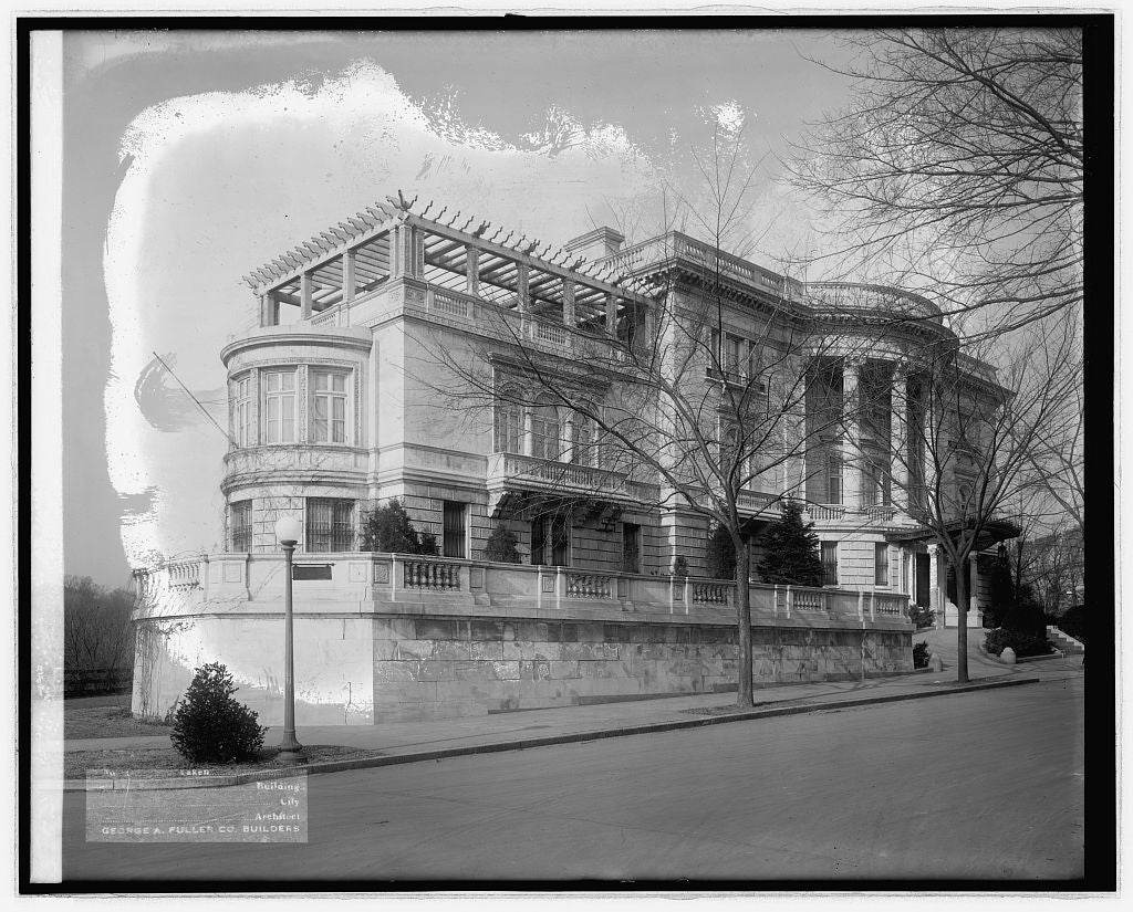 16 x 20 Reprinted Old Photo ofFuller Co., Everett House, Sheridan Circle, [Washington, D.C. 1921 National Photo Co  92a