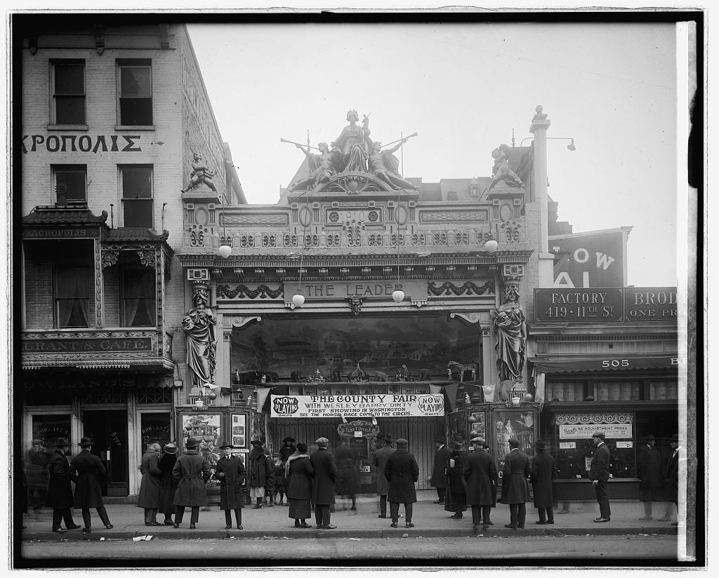 16 x 20 Reprinted Old Photo ofSidney Lust Leader Theater, [Washington, D.C. 1921 National Photo Co  04a