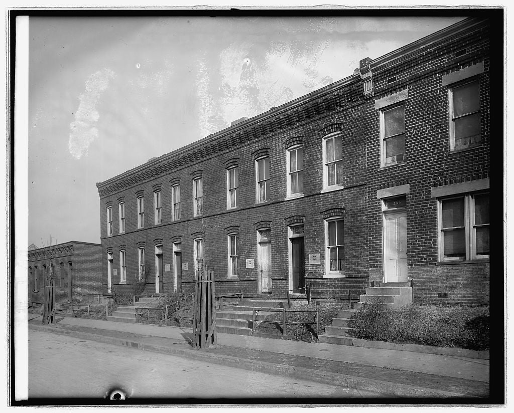 16 x 20 Reprinted Old Photo of251 Warren St., [Washington, D.C. 1921 National Photo Co  11a