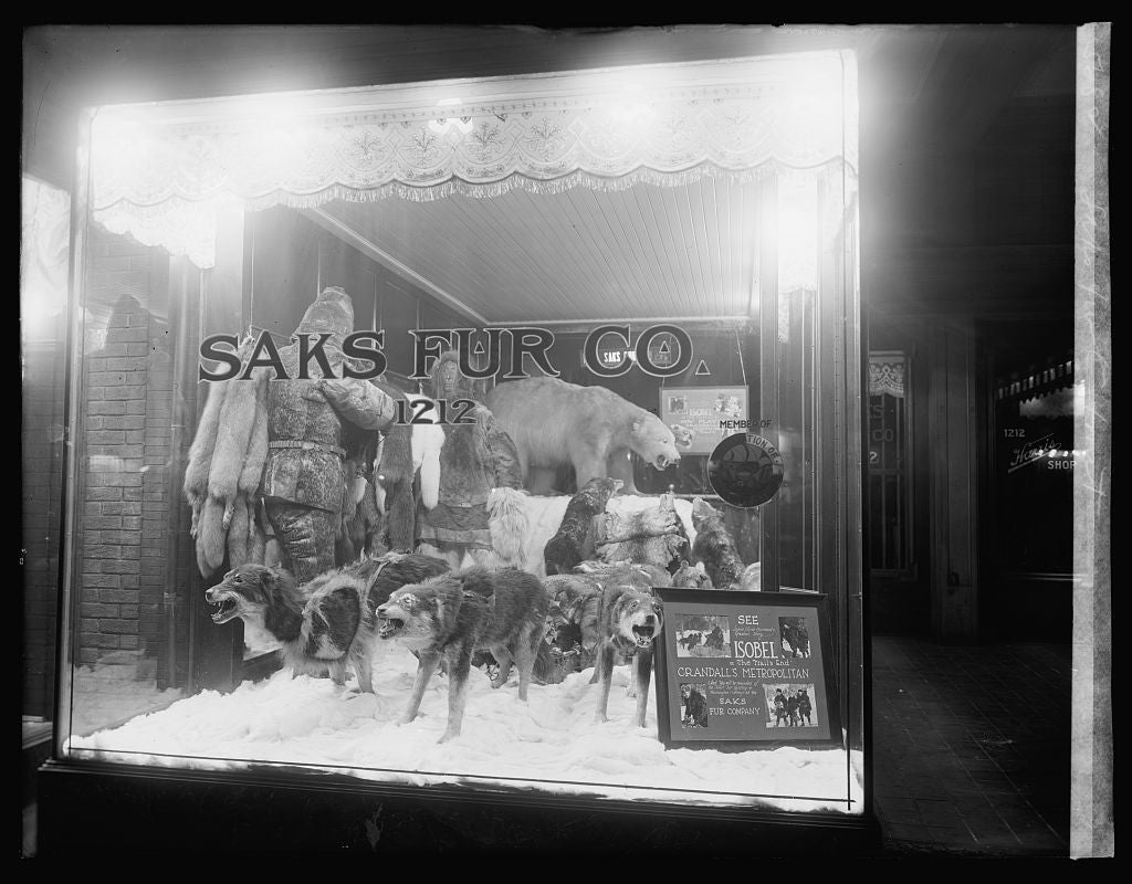 16 x 20 Reprinted Old Photo ofSaks Fur Co., front 1921 National Photo Co  78a