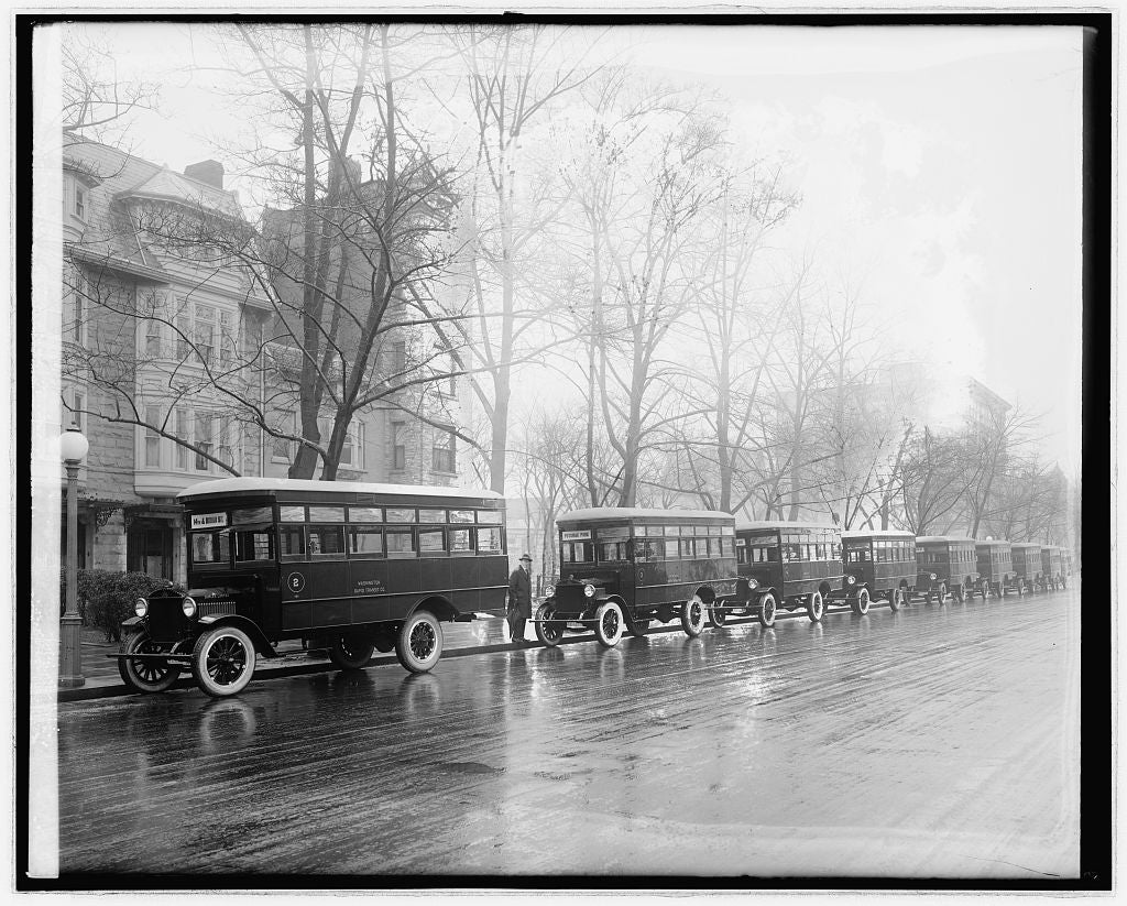 16 x 20 Reprinted Old Photo ofWash. Rapid Transit, duplex trucks 1921 National Photo Co  13a