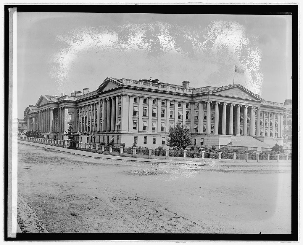 16 x 20 Reprinted Old Photo ofTreasury Dept. old pt., [Washington, D.C.] 1922 National Photo Co  68a