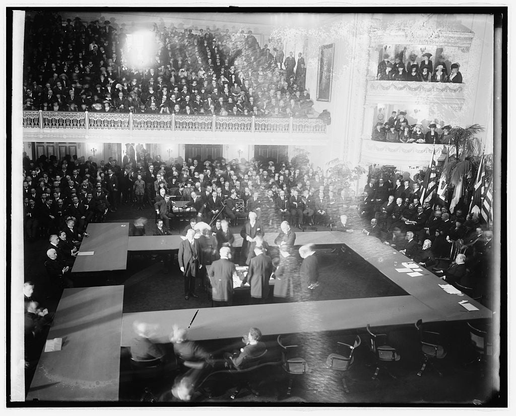16 x 20 Reprinted Old Photo ofClosing session of Arm. conf. 1922 National Photo Co  72a