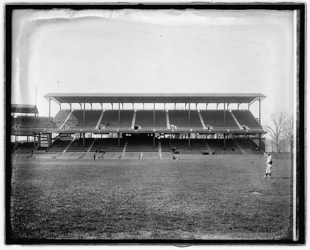 16 x 20 Reprinted Old Photo ofStands, ball park 1922 National Photo Co  03a