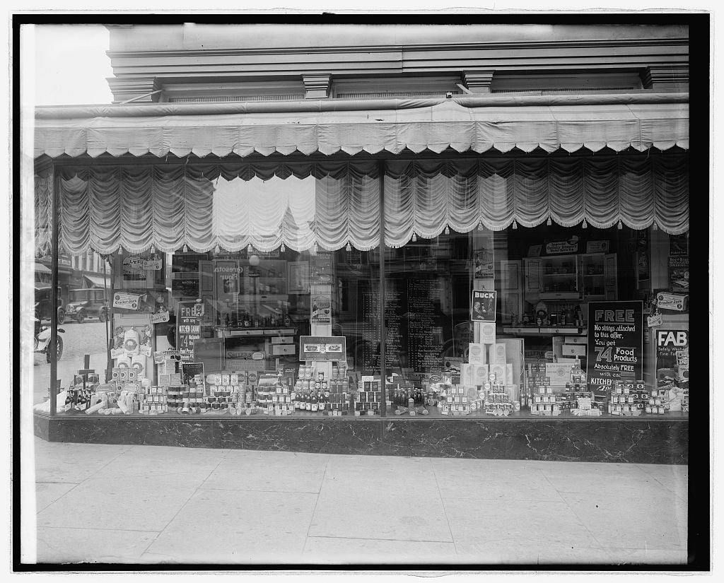 16 x 20 Reprinted Old Photo ofHub furn[?] & window 1922 National Photo Co  08a