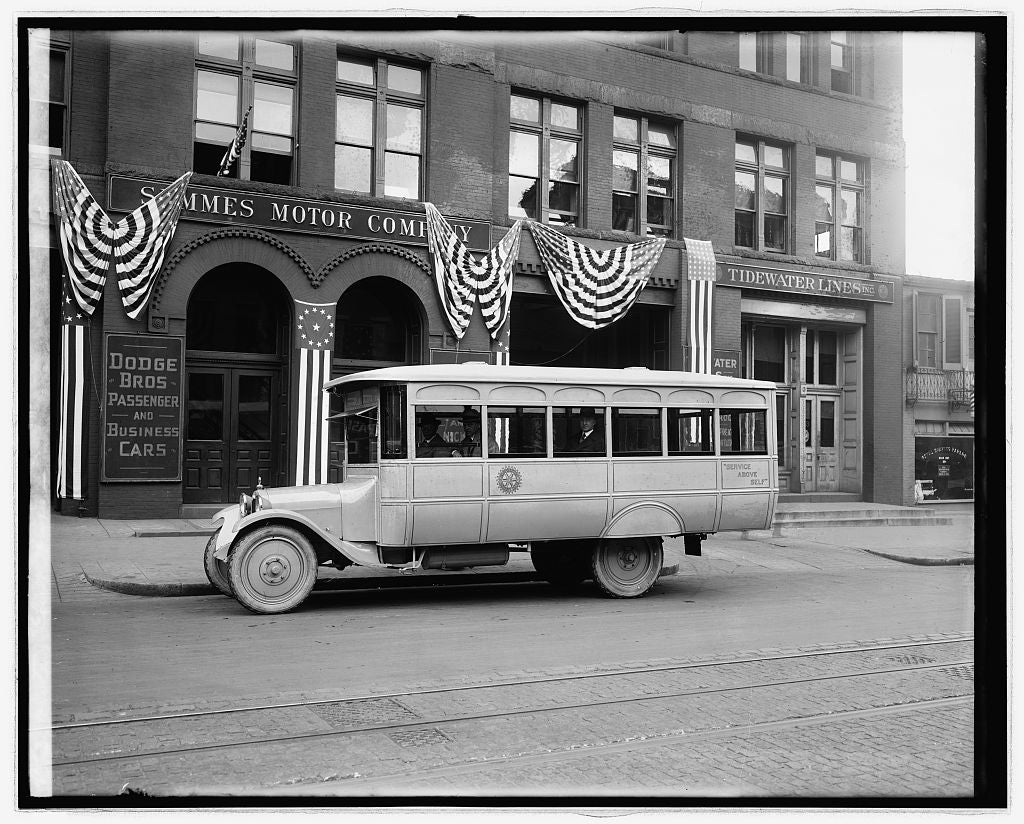 16 x 20 Reprinted Old Photo ofRotary Club bus 1922 National Photo Co  11a
