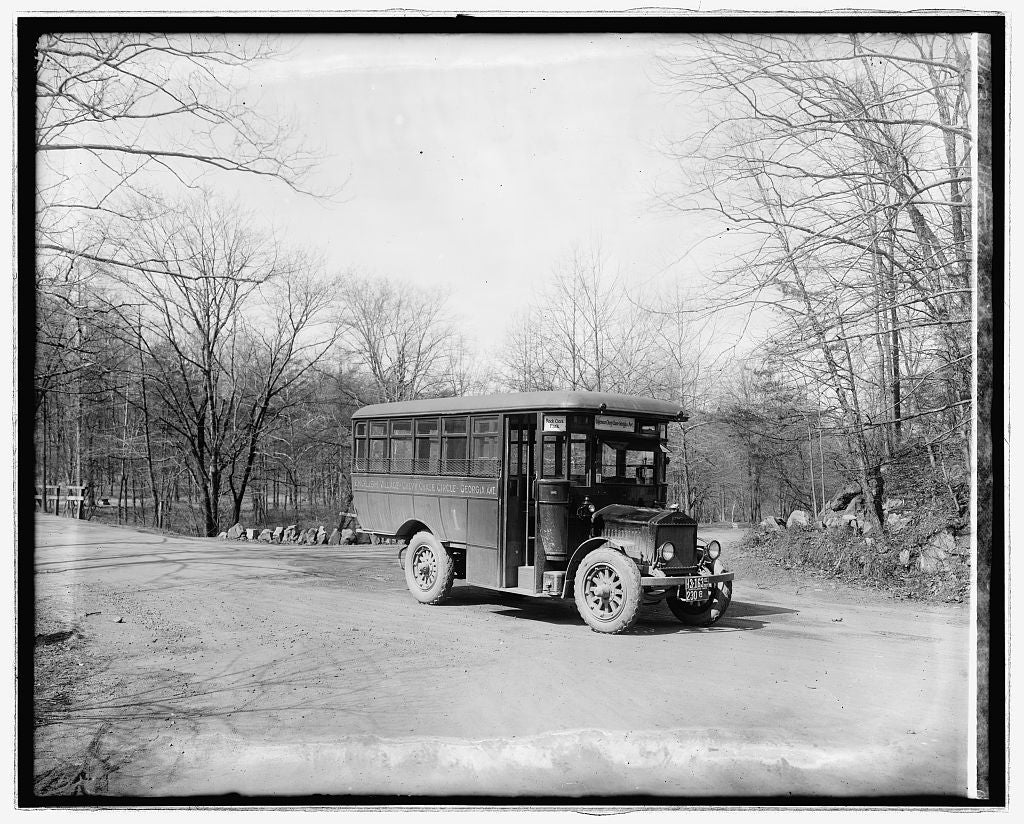 16 x 20 Reprinted Old Photo ofUltimate Sales & Service bus 1922 National Photo Co  15a