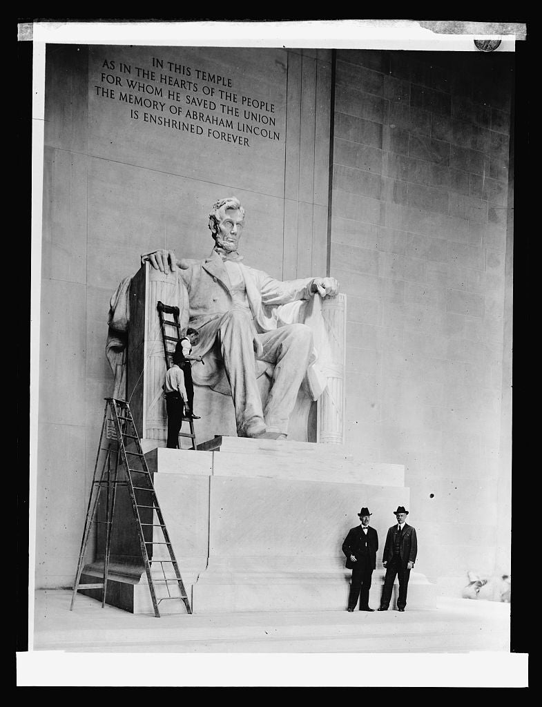 16 x 20 Reprinted Old Photo ofLincoln Statue, Lincoln Memorial, [Washington, D.C.] 1922 National Photo Co  21a