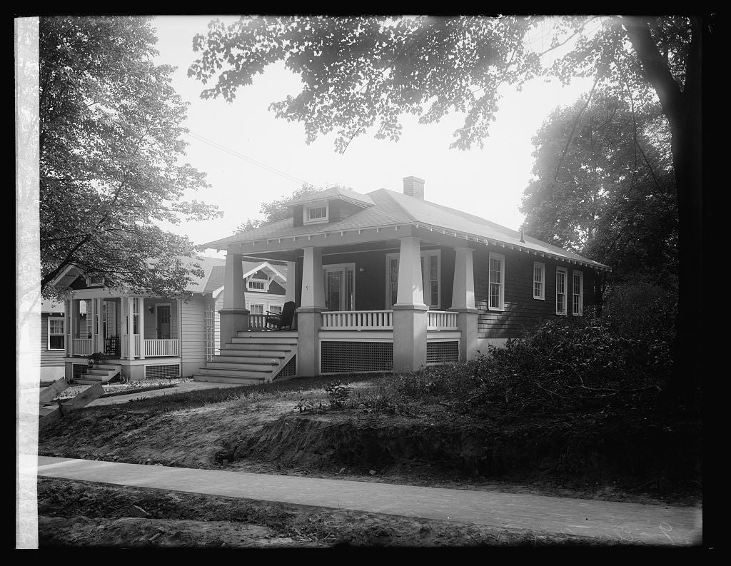 16 x 20 Reprinted Old Photo of9 Elm St., Takoma [Park, Maryland] 1922 National Photo Co  86a