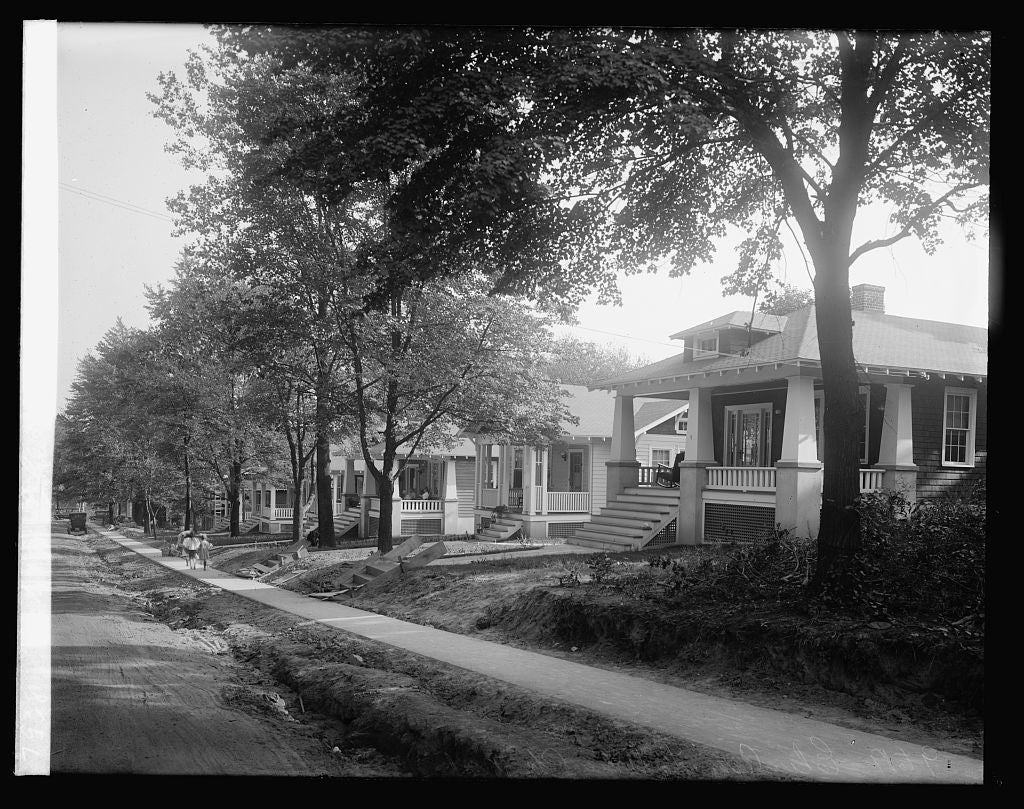 16 x 20 Reprinted Old Photo of9 to 19 Elm Ave., Takoma [Park, Maryland] 1922 National Photo Co  87a