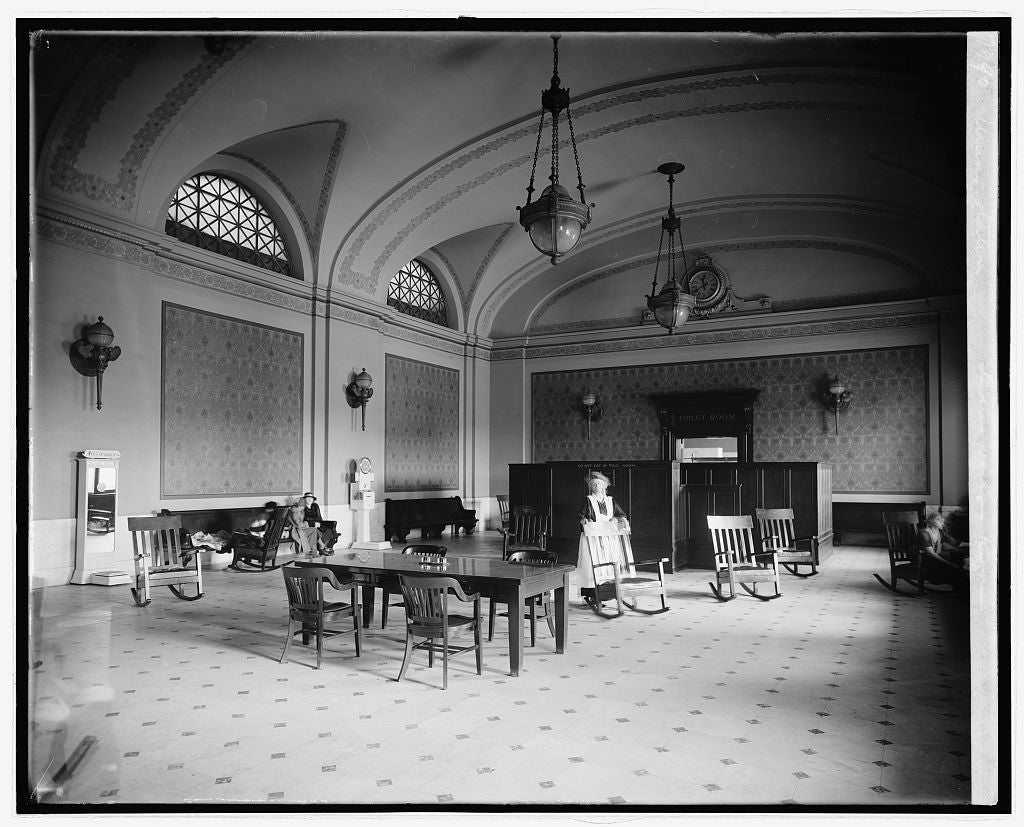 16 x 20 Reprinted Old Photo ofUnion Station, [Washington, D.C.], ladies waiting room 1922 National Photo Co  21a
