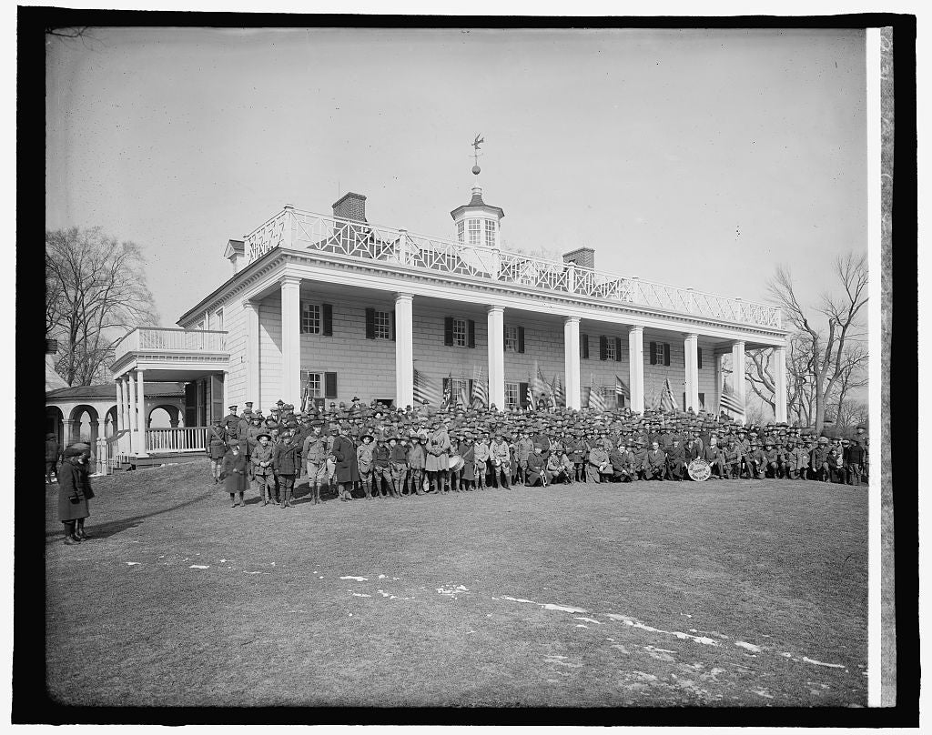 16 x 20 Reprinted Old Photo of Boy Scouts at Mt. Vernon, [Virginia] 1910 National Photo Co  11a