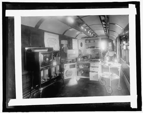 16 x 20 Gallery Wrapped Frame Art Canvas Print of  #214 Food Adm.; kitchen equip. home economics demonstration car, University of Illinois 1910 National Photo Co  25a