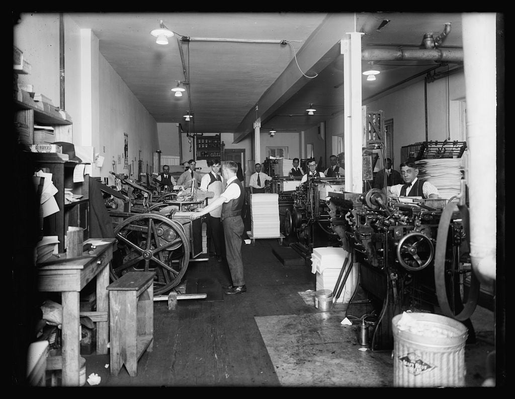 8 x 10 Reprinted Old Photo of  Chas. H. Potter & Co. Printers, Wash., D.C. 1935 National Photo Co  87a