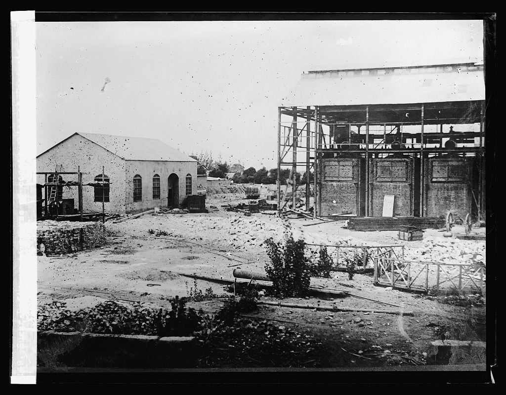 16 x 20 Reprinted Old Photo ofSugar Refinery in course of construction at Cartavia, Peru (No. 75. 1923 National Photo Co  52a
