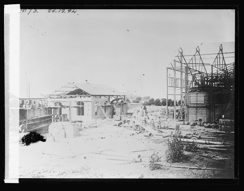 16 x 20 Reprinted Old Photo ofSugar Refinery in course of construction at Cartavia, Peru (No. 73) 1923 National Photo Co  53a