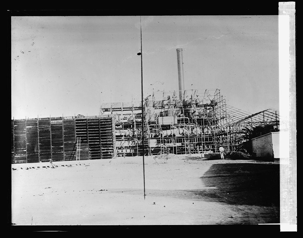 16 x 20 Reprinted Old Photo ofSugar Refinery in course of construction at Cartavia, Peru (No. 71) 1923 National Photo Co  55a