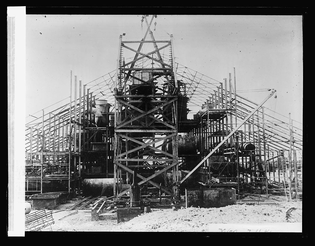16 x 20 Reprinted Old Photo ofSugar Refinery in course of construction at Cartavia, Peru (No. 64) 1923 National Photo Co  57a