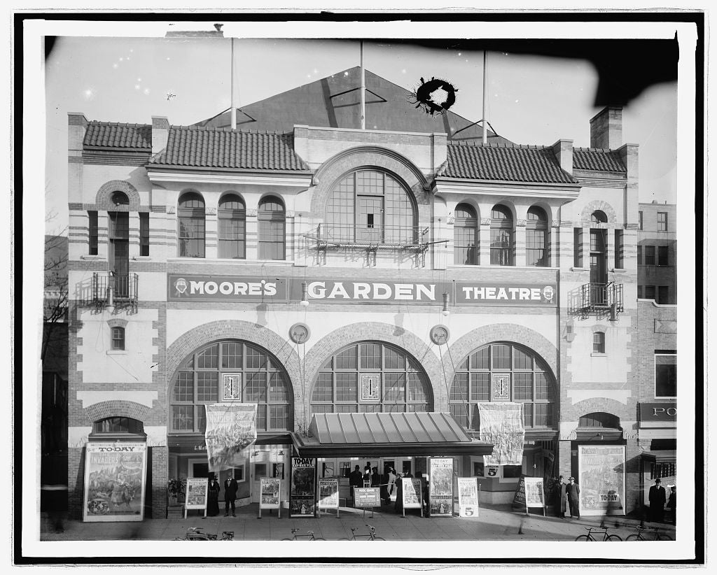 16 x 20 Reprinted Old Photo ofMoore Garden Theater 1923 National Photo Co  48a