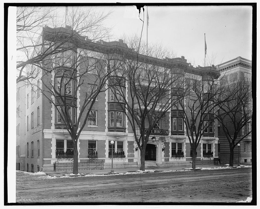 16 x 20 Reprinted Old Photo ofHotel Winston, 1 & Pa. Ave., N.W., [Washington, D.C. 1923 National Photo Co  49a