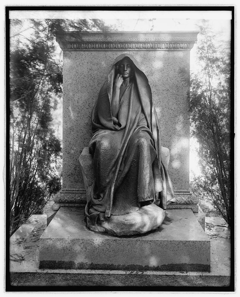 16 x 20 Reprinted Old Photo ofGrief Monument, [Rock Creek Cemetery, Washington, D.C. 1923 National Photo Co  55a