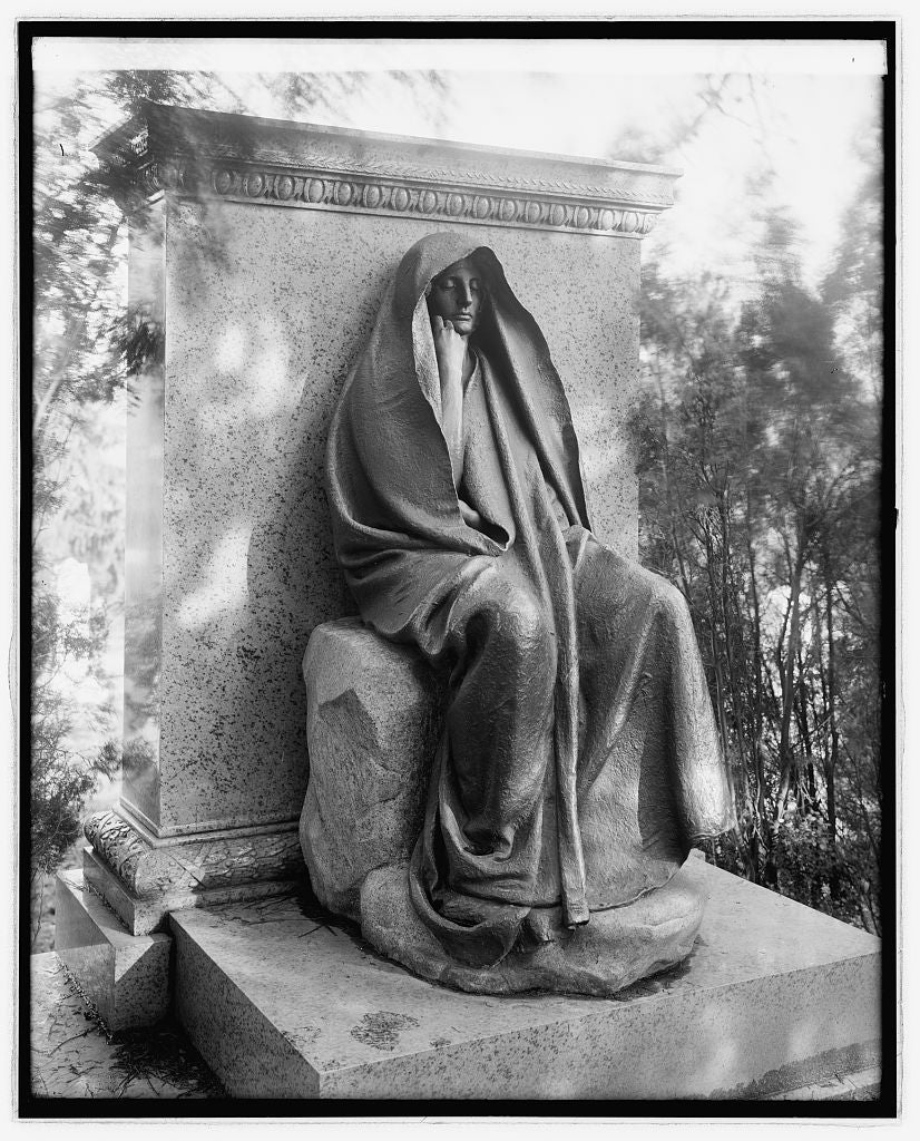 16 x 20 Reprinted Old Photo ofGrief Monument, [Rock Creek Cemetery, Washington, D.C. 1923 National Photo Co  56a