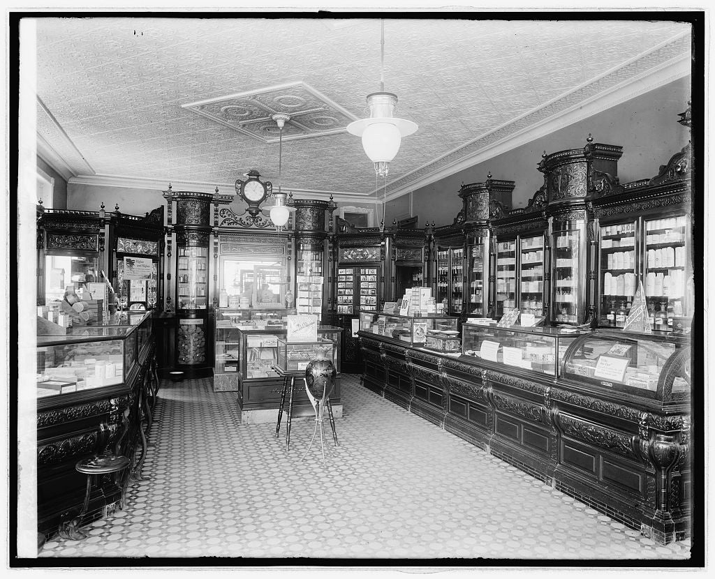 16 x 20 Reprinted Old Photo ofWeller's drug store, S & I, S.E., [Washington, D.C. 1923 National Photo Co  59a