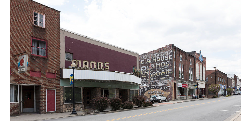 18 x 24 Photograph reprinted on fine art canvas  of Built on the site of the old Strand Theatre the Manos Theatre opened in 1949 in Grafton West Virginia r70 42127 by Highsmith, Carol M.,