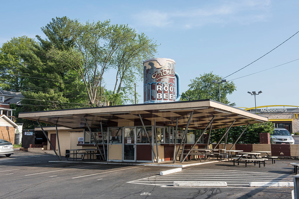 18 x 24 Photograph reprinted on fine art canvas  of Frostop Root Beer stand in Huntington West Virginia r93 42131 by Highsmith, Carol M.