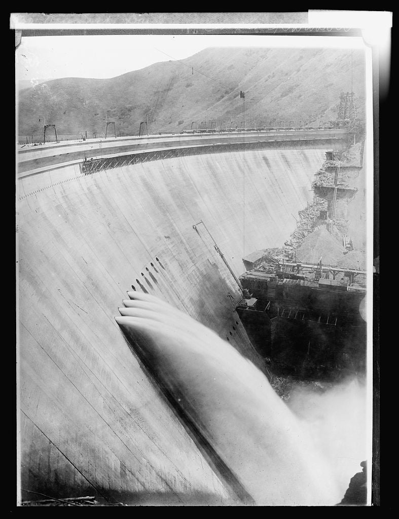 8 x 10 Reprinted Old Photo of Arrowrock Dam, [Idaho 1918 National Photo Co  71a