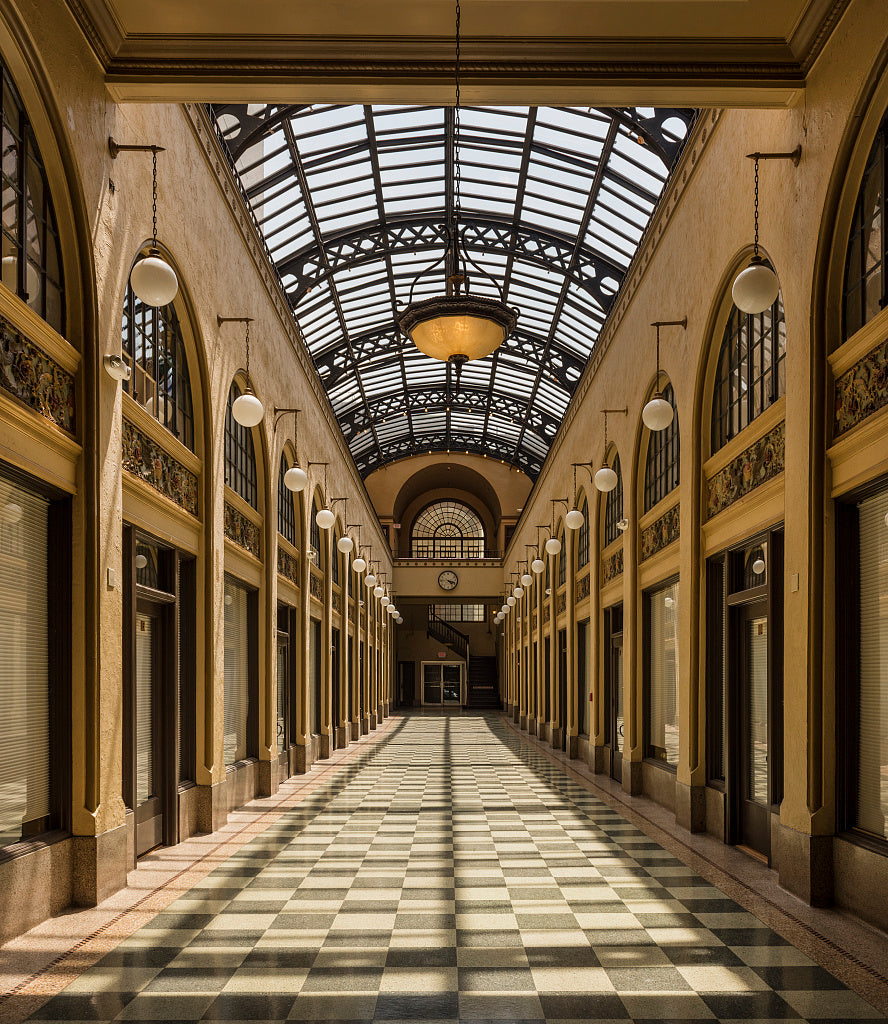 18 x 24 Photograph reprinted on fine art canvas  of The Huntington Arcade originally called the Ritter Arcade in downtown Huntington West Virginia r21 42131 by Highsmith, Carol M.
