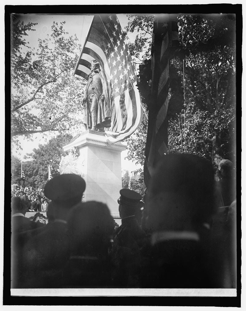 8 x 10 Reprinted Old Photo of Barry Monument, [Washington, D.C.], unveiling 1918 National Photo Co  90a