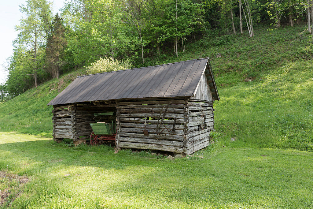 18 x 24 Photograph reprinted on fine art canvas  of Rustic farm cabin at Heritage Farm Museum and Village in Harveytown West Virginia just south of downtown Huntington r48 42131 by Highsmith, Carol M.