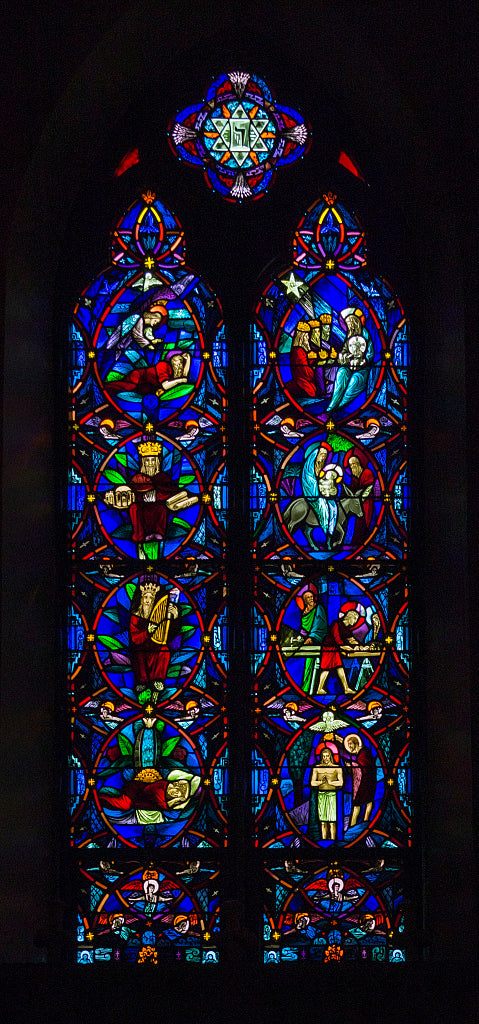18 x 24 Photograph reprinted on fine art canvas  of The North Chancel Window a stained-glass window at St. Matthew's Episcopal Church in Wheeling West Virginia r95 42132 by Highsmith, Carol M.