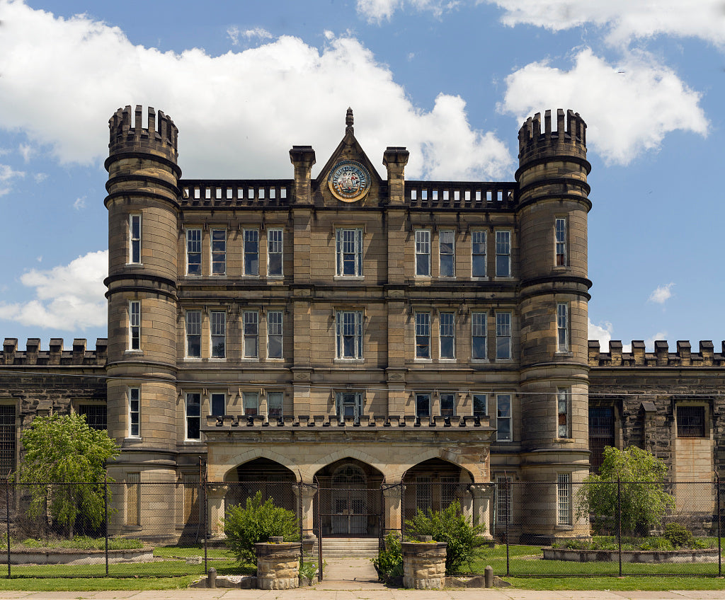 18 x 24 Photograph reprinted on fine art canvas  of The West Virginia State Penitentiary a retired gothic-style prison in Moundsville West Virginia that operated from 1876 to 1995 r98 42136 by Highsmith, Carol M.