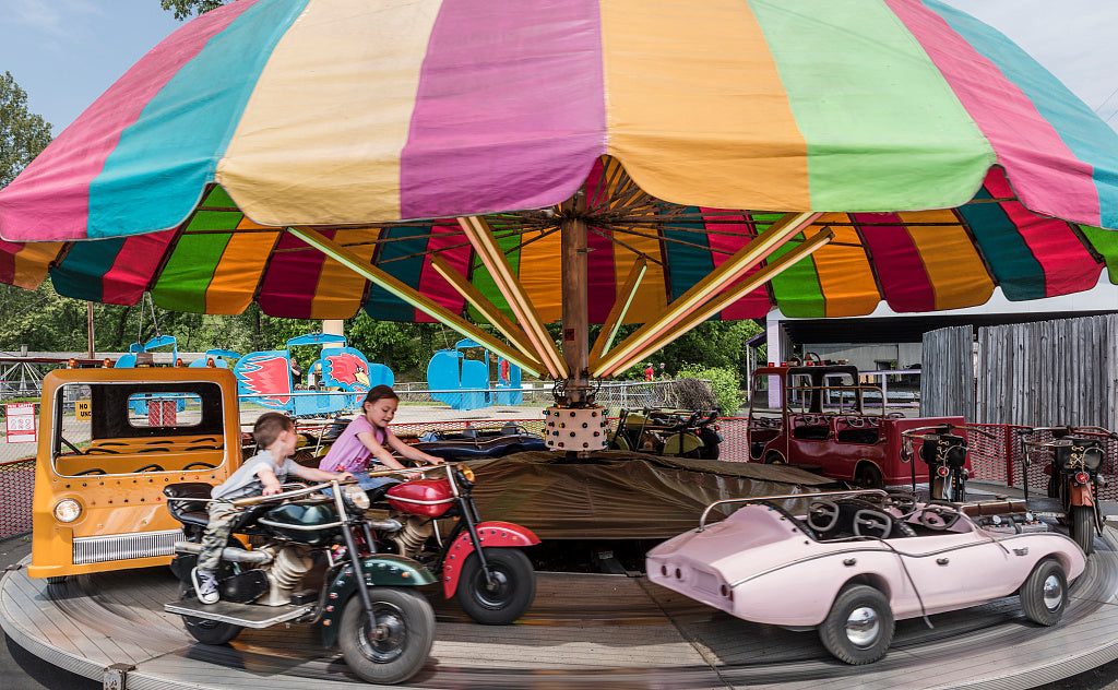 18 x 24 Photograph reprinted on fine art canvas  of Ride at Camden Park an amusement park on the outskirts of Huntington West Virginia r08 42133 by Highsmith, Carol M.