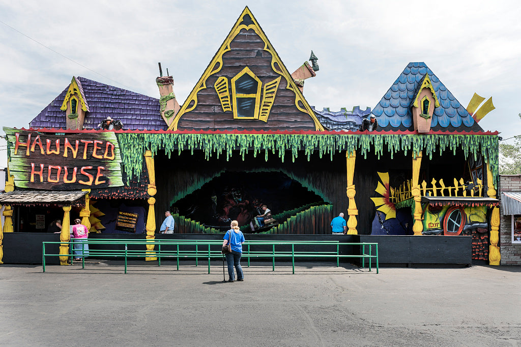 18 x 24 Photograph reprinted on fine art canvas  of Haunted House arcade at Camden Park an amusement park on the outskirts of Huntington West Virginia r09 42133 by Highsmith, Carol M.