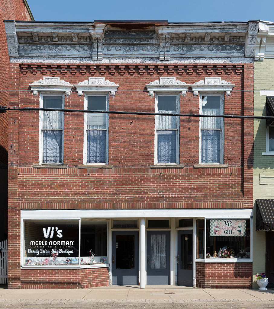18 x 24 Photograph reprinted on fine art canvas  of Old store in downtown Point Pleasant a city on the Ohio River in West Virginia r35 42133 by Highsmith, Carol M.